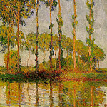Poplars, Row in Autumn, Claude Oscar Monet