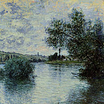 The Seine at Vetheuil, Клод Оскар Моне
