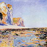 Beach and Cliffs at Pourville, Morning Effect, Клод Оскар Моне