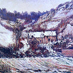Snow Effect at Falaise, Claude Oscar Monet