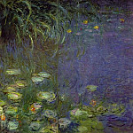 Claude Oscar Monet - Water Lilies, Morning (left detail)