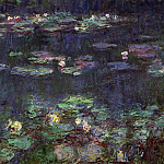 Claude Oscar Monet - Water Lilies, Green Reflection (right half)