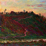 The Village of La Roche-Blond, Sunset, Клод Оскар Моне