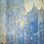 Claude Oscar Monet - Rouen Cathedral, the Portal and the tour d'Albane, Morning Effect