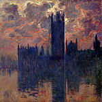 Клод Оскар Моне - Houses of Parliament, Sunset (detail)
