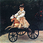 Jean Monet on a Mechanical Horse, Claude Oscar Monet