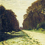 Road in a Forest Fontainebleau, Claude Oscar Monet