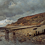 The Headland of the Heve at Low Tide, Claude Oscar Monet
