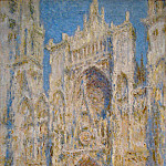 Rouen Cathedral, West Facade, Sunlight, Claude Oscar Monet