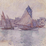 Boats in the Port of Le Havre, Claude Oscar Monet