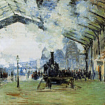 Saint-Lazare Gare, Normandy Train, Claude Oscar Monet