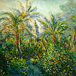 Garden in Bordighera, Morning Effect, Claude Oscar Monet