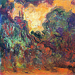 Claude Oscar Monet - The Artist's House, View from the Rose Garden