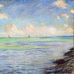 The Sea at Pourville, Claude Oscar Monet