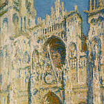 Rouen Cathedral, the Portal and the Tower d`Allban on the Sun, Claude Oscar Monet