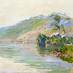 The Seine at Port-Villes, Clear Weather, Claude Oscar Monet