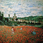 Poppy Field near Vetheuil, Claude Oscar Monet