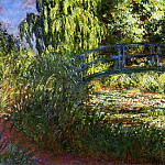 Claude Oscar Monet - The Japanese Bridge (The Water-Lily Pond and Path by the Water)