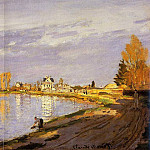 The Seine near Bougival , Клод Оскар Моне