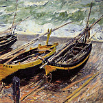 Three Fishing Boats, Claude Oscar Monet