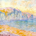 Cliffs at Pourville, Morning, Claude Oscar Monet