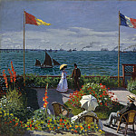 Claude Oscar Monet - Garden at Sainte-Adresse
