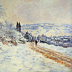 Claude Oscar Monet - The Road to Vetheuil, Snow Effect