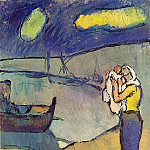 Pablo Picasso (1881-1973) Period of creation: 1889-1907 - 1902 MКre et fils sur le rivage