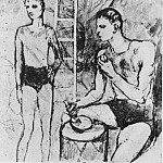 Pablo Picasso (1881-1973) Period of creation: 1889-1907 - 1905 Le repas des acrobates