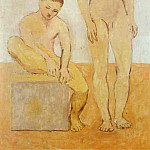 1905 Deux jeunes, Pablo Picasso (1881-1973) Period of creation: 1889-1907