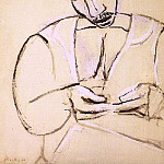Pablo Picasso (1881-1973) Period of creation: 1889-1907 - 1907 Marin roulant une cigarette