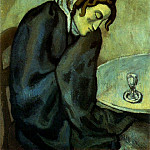 1902 Femme fatiguВe, ivre, Pablo Picasso (1881-1973) Period of creation: 1889-1907