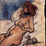 1900 Femme qui rИve Е Venise. JPG, Pablo Picasso (1881-1973) Period of creation: 1889-1907
