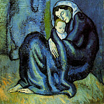 Pablo Picasso (1881-1973) Period of creation: 1889-1907 - 1901 MКre et enfant1