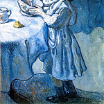 Pablo Picasso (1881-1973) Period of creation: 1889-1907 - 1901 Le gourmet (Le gourmand)