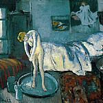 1901 La chambre bleue 2, Pablo Picasso (1881-1973) Period of creation: 1889-1907