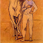 Pablo Picasso (1881-1973) Period of creation: 1889-1907 - 1906 Jeune homme et cheval