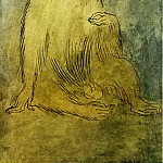 1905 Le singe assis, Pablo Picasso (1881-1973) Period of creation: 1889-1907