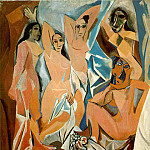 1907 Les demoiselles dAvignon 2, Pablo Picasso (1881-1973) Period of creation: 1889-1907