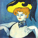 Pablo Picasso (1881-1973) Period of creation: 1889-1907 - 1901 Courtisane Au Collier De Gemmes