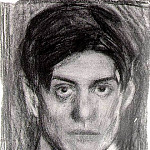 1899-1900 Autoportrait noir et blanc, Pablo Picasso (1881-1973) Period of creation: 1889-1907