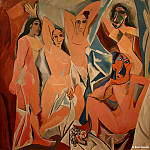 Pablo Picasso (1881-1973) Period of creation: 1889-1907 - Les Demoiselles d'Avignon