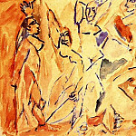 1907 Les demoiselles dAvignon [Рtude]2, Pablo Picasso (1881-1973) Period of creation: 1889-1907