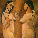 Pablo Picasso (1881-1973) Period of creation: 1889-1907 - 1906-7 Deux femmes nues