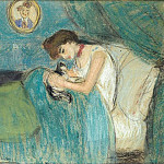 1900 La femme au chat, Pablo Picasso (1881-1973) Period of creation: 1889-1907