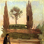 1897 Homme dans un parc, Pablo Picasso (1881-1973) Period of creation: 1889-1907