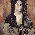 Pablo Picasso (1881-1973) Period of creation: 1889-1907 - 1905 Portrait de Madame Benedetta Canals