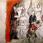 Pablo Picasso (1881-1973) Period of creation: 1889-1907 - 1907 Les demoiselles dAvignon [Рtude]
