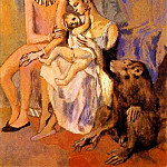 1905 Famille dacrobates avec singe, Pablo Picasso (1881-1973) Period of creation: 1889-1907