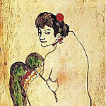 1902 Femme aux bas verts, Pablo Picasso (1881-1973) Period of creation: 1889-1907